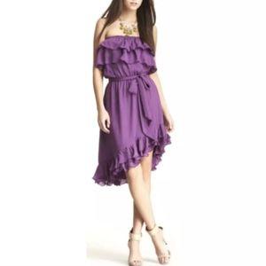Haute Hippie Women's Purple Ruffle Dress $445  XS